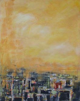 Die güldne Sonne (Paul Gerhardt), Mischtechnik auf Leinwand, 100 x 80cm