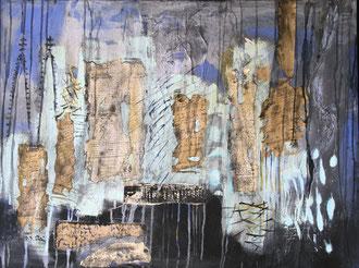 Apokalypse-Köln 2009, Mischtechnik auf Leinwand, 60x80