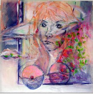 IST 1, Acryl auf Leinwand, 60 x 60 cm