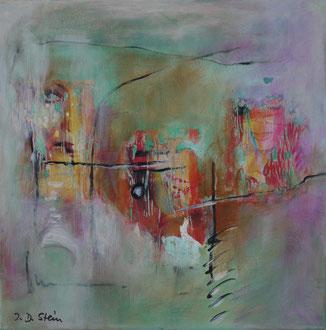Komposition #223, Mischtechnik auf Leinwand 40 x 40cm