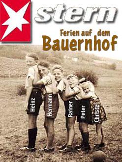 Mit Schwester und 3 Cousins in Volkershausen