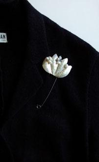 by Jewelry Karakaraso for NHK culture Silver Brch