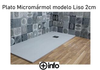 Platos de Micromármol modelo Liso 2 cm