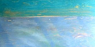 Horizont mit grünem Himmel, Acryl auf Holz in 120x60                                                                                                                                                           >>> reserved