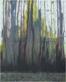 """""""Schönramer Moor in der Dämmerung"""" Acryl auf LW in 80x100, 2012  /    """"Moorland in twilight""""  31,5x39,4"""