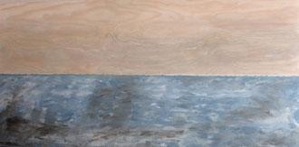 Horizont, Acryl auf Holz in 120x60