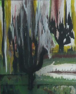 """Simser Filze"" Acryl auf LW in 80x100, 2012  /    ""Moorland Simser Filze"" 31,5x39,4"