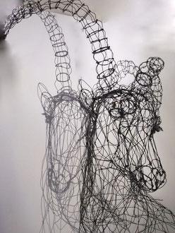 """ARC EN LUNE Fabienne Quenard """"Bouquetin"""" H.100xL.80xP.40cm"""