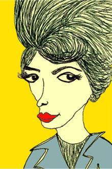 """""""Boss Lady""""      pen on paper w/digital color     2014"""