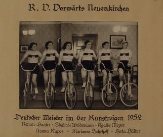 6er Kunstradfahren Frauen in Hamburg