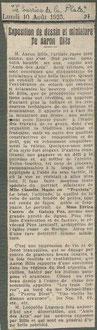 Le Courier de la Plata, Argentine10 Aout 1925