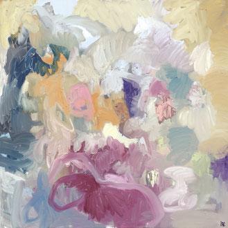 """"""" Paysage sous la pluie"""" - 150 x 150 cm"""