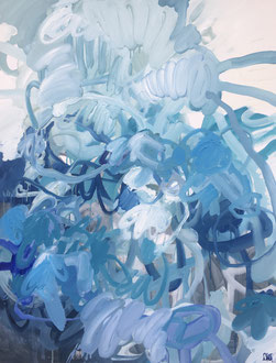 Composition bleue - 116 x 89 cm