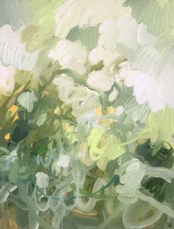 Composition verte - 116 x 89 cm