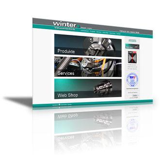 Auftraggeber: Industrieunternehmen. Unsere Leistungen: Webdesign, Layout, Texte, Bilder, Rechtsprüfung, Webbetreuung