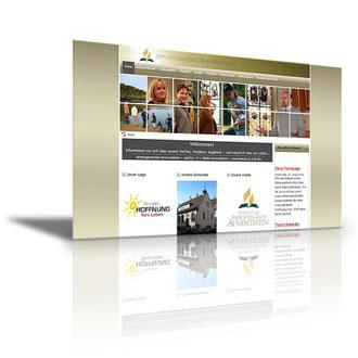 Auftraggeber: Kirche. Unsere Leistungen: Layout, Webdesign, Bilder, Texte