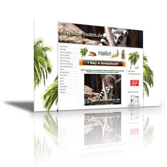 Auftraggeber: Privater Zoo. Unsere Leistungen: Webdesign, Layout, Texte Bilder, Rechtsprüfung, Webbetreuung