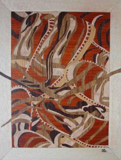 Oeuvre de Betty Diaz Perron - marqueterie - Atelier Eclats de Bois - 38 isère
