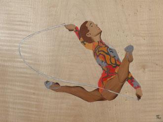 Mouvement - Gymnastique - marqueterie - Atelier Eclats de Bois - 38 isère
