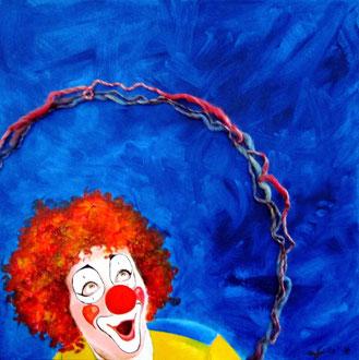 Momenti di felice stupore (acrilico e olio) 60x60 - 2014 COLLEZIONE PRIVATA