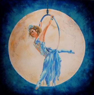 La fiducia (sospesa ad un filo la strada del mio cuore ritroverò) (da: Le cirque du Soleil) 80x80 - 2017