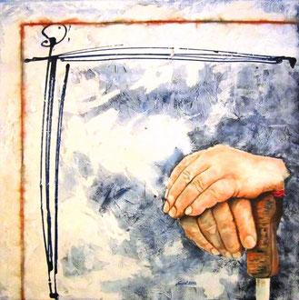 L'età della saggezza -  tecnica mista 40 x 40 - 2012