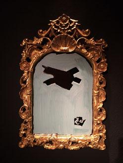 liquid chalk on mirror, 59 x 36 cm, 2015