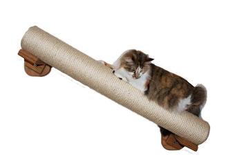 Sisalrolle mit stabiler Wandhalterung diagonal zum klettern und Krallen wetzen