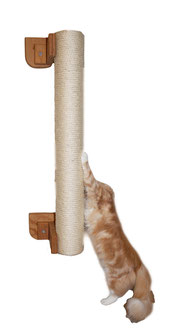 Sisalrolle mit stabiler Wandhalterung senkrecht zum klettern und Krallen wetzen