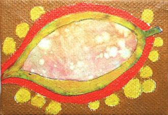 blatt 2 - 2011, collage, papier, ölfarbe auf leinwand,