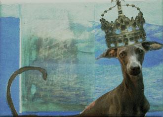 la reign 2011, collage, papier, foto, ölfarbe auf leinwand,