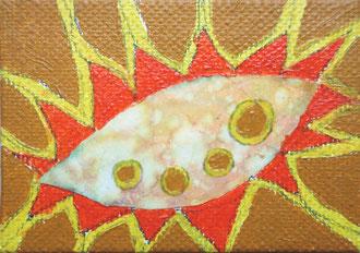 blatt 1 - 2011, collage, papier, ölfarbe auf leinwand,