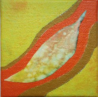 blatt 3- 2011, collage, papier, ölfarbe auf leinwand,