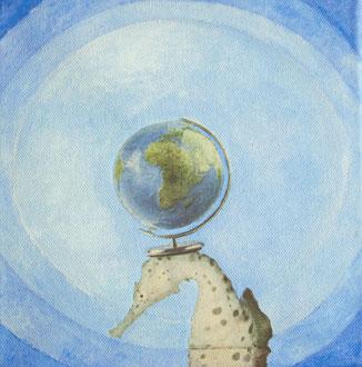 2010, collage, papier, ölfarbe auf leinwand, 20 x 20 cm, privatbesitz