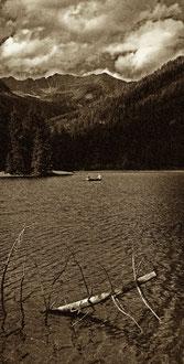 'Dawn Fishing' sepia - Kärnten