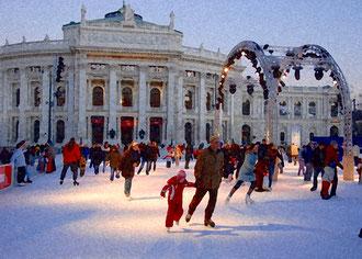 'Skating With Dad' - Vienna