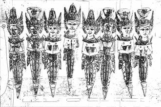 Bali - 'Idols in Line'