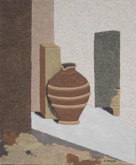 Le Patio; 38 x 46 cm