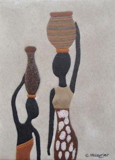 Porteuses d'eau (3); 18 x 24 cm