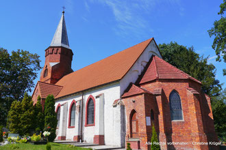 Kirche Martenthin / Mierzecin (ehem. Kreis Cammin)  - church Martenthin / Mierzecin (district of Cammin)