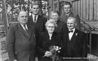 09. Mai 1956 - Neu Plestlin - Silberhochzeit ALTROGGE, Gustav und Amalie geb. HILKEMEIER