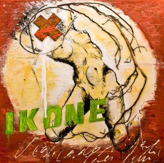 IKONE; Mischtechnik auf Leinwand, 80x80 cm