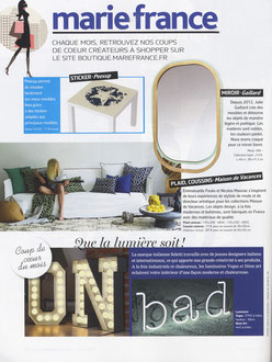 MARIE FRANCE MAGAZINE - MIROR LISERE COLLECTION < MARCH 2015