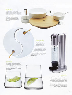 HOME MAGAZINE - DOUBLE CHEESE - LIMOGES PORCELAIN - APRIL MAY 2012