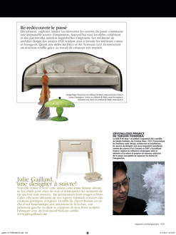 ESPACES CONTEMPORAINS - SWITZERLAND - NOW DESIGN ! MAISON & OBJET 2012 - MARCH 2012