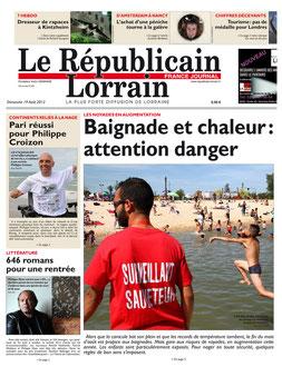 LE REPUBLICAIN LORRAIN - 19 AUGUST - TABLE ROMAN