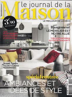 JOURNAL DE LA MAISON < SEPT 2017