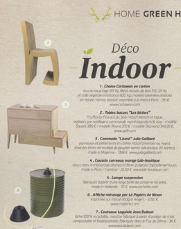 GREEN ATITUDE MAGAZINE - COMMODE LISERE COLLECTION < MARCH 2015