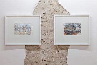 """Frank Diersch, """"Strange Rules I"""", 2016 und """"Strange Rules II"""", 2016, je Tusche, Aquarell auf grundiertem Papier, 21 x 29,5 cm"""
