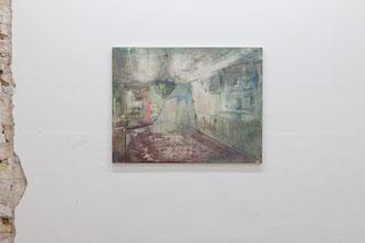 """Ina Bierstedt, """"Blanche"""", 2016, Eitempera und Öl auf Holz, 50 x 65 cm"""